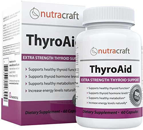 Thyroid Support Supplement - 100% MONEY BACK GUARANTEE & FREE SHIPPING - Natural Herbal Formula To Improve Thyroid Function With L-Tyrosine, Kelp (Iodine), Ashwaganda (Withania), Selenium, B-12 and Vitamin D to Support a Healthy Metabolism, Reduce Fatigue, Promote Weight Loss and Increase Energy - 60 Capsules Test