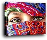 1art1 Frauen Poster Kunstdruck als Blockbild - Arabische Augen (80 x 60cm)