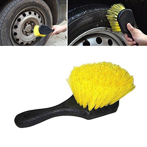 Auto Tire Reinigungsbürste spezielle gefiederten Split Ende weich Haar kratzfrei kurzer Griff Rad Tire ()