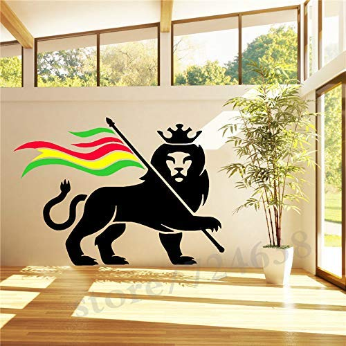 Rasta Löwe Rastafarian Löwe Von Judah Bob Marley Vinyl Kunst Wandtattoo St 57 * 81 Cm -