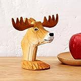 Decorazioni / artigianato di intaglio del legno / ornamenti in legno / staffa di stoccaggio / espositore per occhiali cervi / creativo