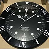 replica Rolex 55 mm de Pared subamariner Abrazadera Negro Metal Movimiento silencioso
