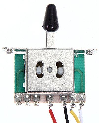 SaySure - Practical Guitar Wiring Harness 1V2T 1Jack 3-500K Pots