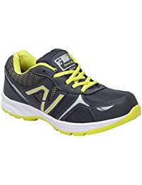CF_Better Deals Mens Synthetic Mesh Grey Green Coloured Sports Shoe| Running Shoes| Pro Running Shoes| Sprint... - B076CMTT4B