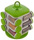 #9: Floraware® 12-Jar Revolving Spice Rack, Green