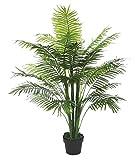Decovego Kunstpflanze Kunstbaum Künstliche Pflanze Palme Farnpalme 130cm