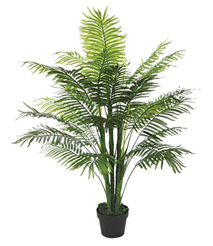 Kunstpflanze Kunstbaum Künstliche Pflanze Palme Farnpalme 130cm Decovego