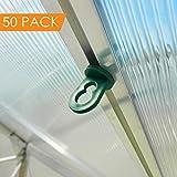 Paquet de 50x effet de serre agrafe - Clips à effet de serre - Facile instalation Petite Serre Noir En Plastique Clip