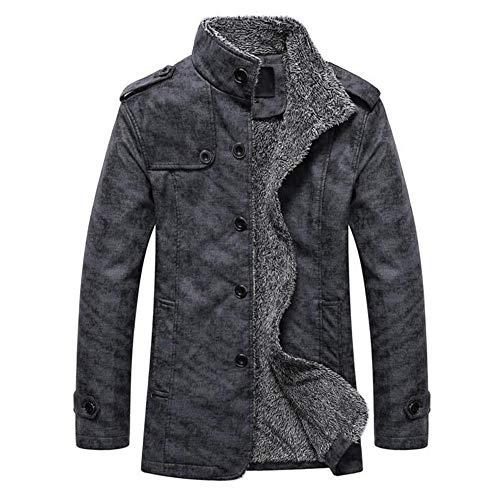 Aoogo Herren Winter Warm Wolle Futter Jacke Casual Baumwolle Bomber Mantel Oberbekleidung Parka mit - Bomber Jacke Aus Top Gun Kostüm