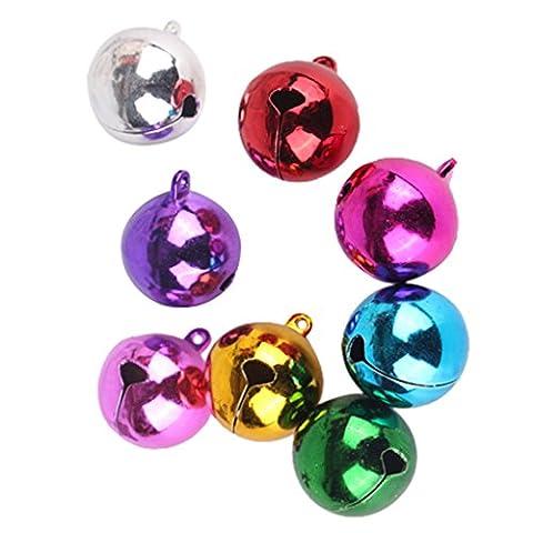 MagiDeal 20 Stk Mehrfarbig Schlittenglocken für Basteln Schmuck Charm Decor (Weihnachten Läuten Glocken)