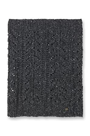 ESPRIT Damen Schal I15355, Gr. one size, Schwarz (Black Tweed Melange 004)