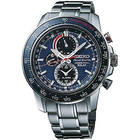Reloj Seiko Sportura Ssc355p1 Hombre Azul