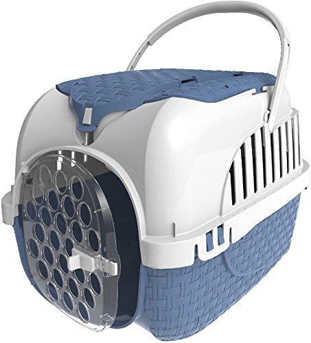 Caisse de transport avec rangement - bleu ( Catégorie : Caisse de transport chat )
