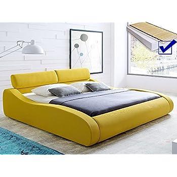 Polsterbett Safrangelb Bett 140x200 Bett Komplett Matratze