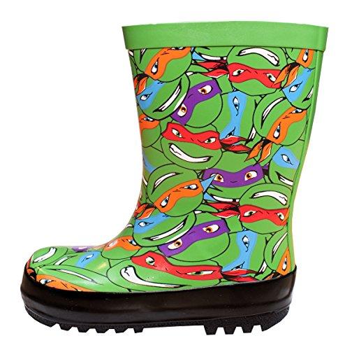 TMNT Jungen Teenage Mutant Ninja Turtles Gummistiefel UK Schuh Größen von 6 bis 10 - Mehrfarbig, Shoe Size ()