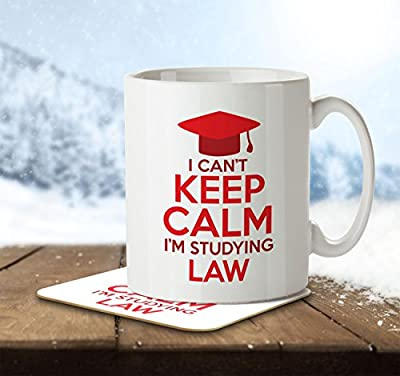 I Can't Keep Calm I'm Studying Law - Mug and Coaster by Inky Penguin by The Inky Penguin
