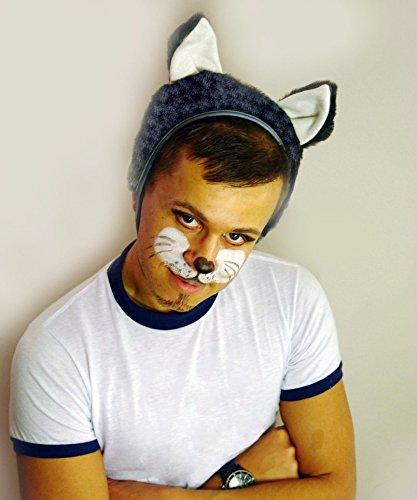 SIA COLLA-S Faschingskostüm Wolf Mütze mit Ohren Kappe Hut Wolf Karneval Kostüme für Kinder älter als 9 Jahre, Herren Männer Frauen Festtage Größe L/XL