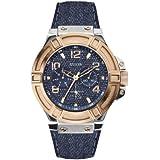 Guess Herren-Armbanduhr Mens Sport Analog Quarz Leder W0040G6
