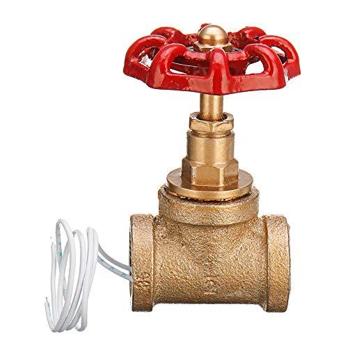 KingLan Vintage Steampunk 1/2 inch Rot Griff Ventil Licht Schalter Mit Draht Für Wasserrohr Lampe -