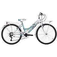 Bicicleta Cinzia Daisy de niña, estructura de acero, cambio de 6 velocidades, ruedas