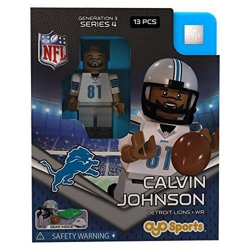 Calvin Johnson NFL OYO Detroit Lions Generation 3 Series 4 G3 Mini Figure by OYO Calvin Johnson Nfl