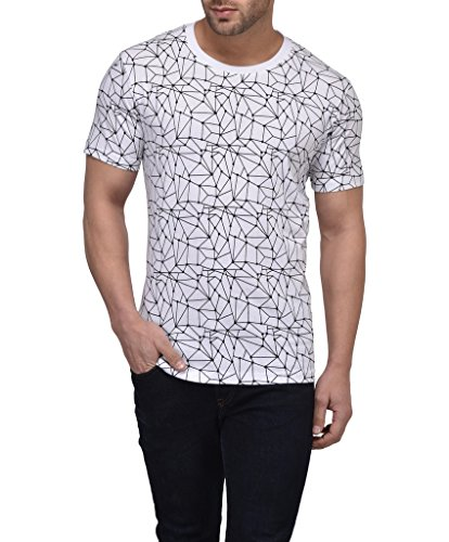 9. Vivid Bharti Men's All Over Printed RN Half Sleeve T-shirt