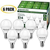 LED E14 Small Edison Screw (SES) Golf Ball Bulbs, 5W P45 E14 LED Lights Bulbs, 40W Incandescent Bulb Equivalent, 400LM, 3000K Warm White (Pack of 6)