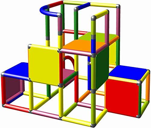 Moveandstic 875056 - Grundbaukasten Profi grün apfelgrün Titan grau rot (7 Farben Multicolor)