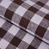 Hans-Textil-Shop Stoff Meterware Karo 1x1 cm Braun