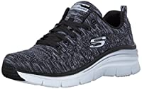Scarpe donna sportive linea : Skechers Fashion Fit plantare : Air Cooled memory foam tessuto comfort zeppa cm. 4