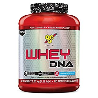 BSN DNA Whey Protein Powder, Vanilla, 1.87 kg