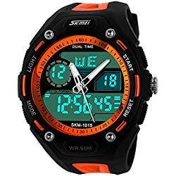SKMEI Men's 5ATM Dive Waterproof Analog Digital Sport Military Multifunctional Watch