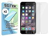 SDTEK iPhone 6 / 6s / 7/8 Verre Trempé, Pack de 2* Protection écran Résistant aux...