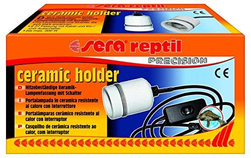 Sera 32012Reptil Ceramic Holder una Capacidad de cerámica con Cable e Interruptor para instalaciones de terrarios