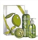 Une Olive en Provence Geschenkset Picholine Duschgel Handcreme weißw Seife Olivenöl