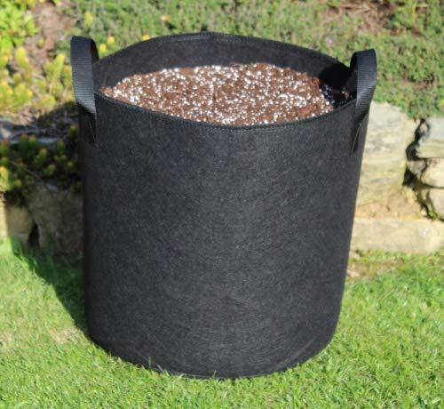 50 L Ø40 x 40 cm sac de plantation avec poignées Sac de plantation Casseroles Grow Bag Plant Pot Plate-bande surélevée