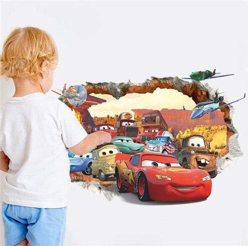 Utopiashi Disney - Pixar Cars Lightning McQueen Hook Kindergarten Kinder Zimmer felswand Aufkleber