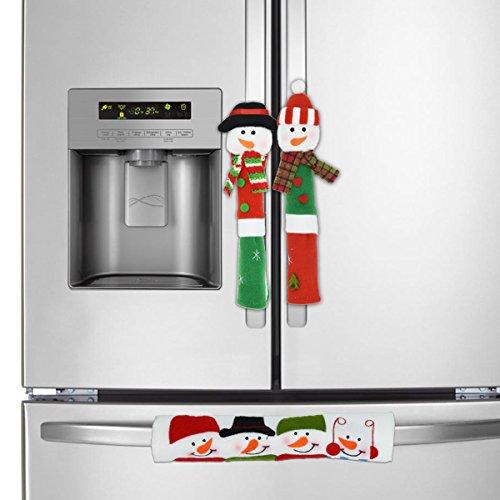 bdeckung, T-Antrix Niedlich Schneemann Küche Gerät Griff Abdeckungen Kühlraum Schutz Idee für Weihnachten Dekoration 3 Stück (Weihnachten Dekorationen Verkauf)