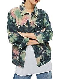 Topshop Women's Tie Dye Multi Colour Denim Look Shacket Jacket RRP £45 Sizes 6-14