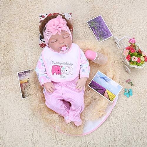Tatayang 50cm Reborn Baby Puppe, Realistische Handgemachte Puppe Mädchen Gemacht aus Kieselgel, Spielzeug Geschenke Neugeborene Geburtstag (Handgemachte Puppe Baby)