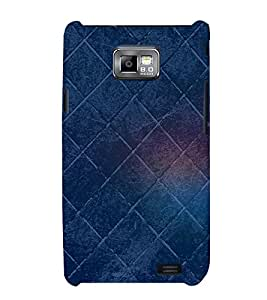 Square Pattern 3D Hard Polycarbonate Designer Back Case Cover for Samsung Galaxy S2 :: Samsung Galaxy S2 i9100