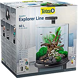 Tetra AquaArt Explorer Line Aquarium-Komplett-Set 60L, Schwarz