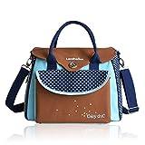 Mummy bag Britische Mode multifunktionale Mama Tasche, produziert Paket, wasserdichte große Kapazität Mama Tasche ( Farbe : Blau )