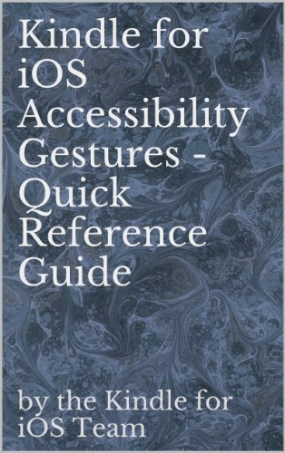 Kindle for iOS Accessibility Gestures - Quick Reference Guide (English Edition)
