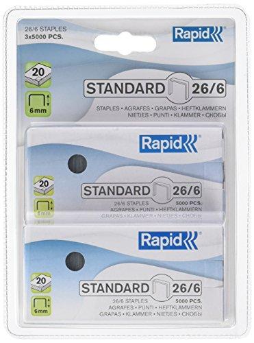 Rapid Standard 26/6 24862400 Agrafes Standard 26/6