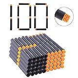 BSPAS 100 Stücke Hoch Gepuffert Pfeile Weiche Refill Darts Nachfüllpack für Nerf N-Strike Elite/Nerf Modulus/Nerf Rebelle/Nerf Retaliator/Nerf Accustrike (Schwarz)
