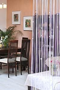 150x245 weiß Spaghetti Vorhang Vorhänge Kristallen Kräuselband Wäschenetz Fensterdekoration Gardine white Spaghetti