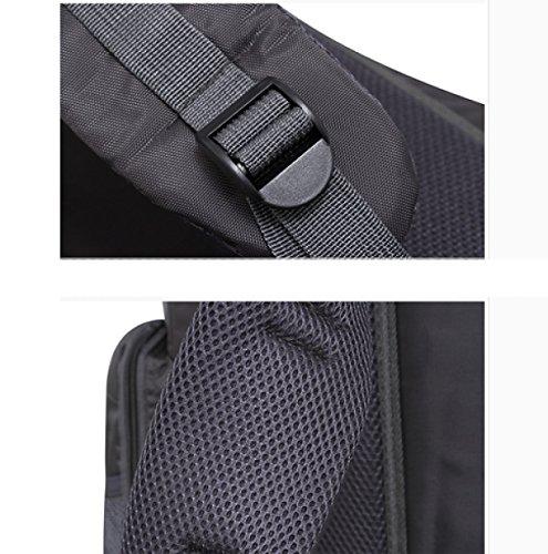 LAIDAYE Außentasche Multifunktionsbeutel Bulk Beutel Schulterbeutel Bergtaschen Reisetaschen Sporttaschen Rucksäcke Black