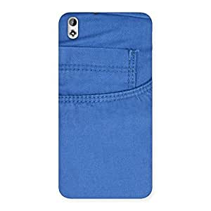 Delighted Blue Jeans Back Case Cover for HTC Desire 816
