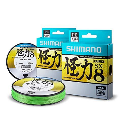 Shimano Kairiki PE 0.20mm MantisGreen 17.0kg,300m geflochtene Schnur